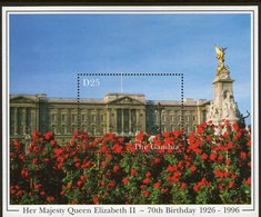 THE GAMBIA, 1996 QUEENS BIRTHDAY MINISHEET MNH - Gambia (1965-...)