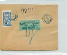 Lettre Recommandée De MADAGASCAR  - Voyagée De Joffreville à St Etienne En 1929 - Madagascar (1889-1960)