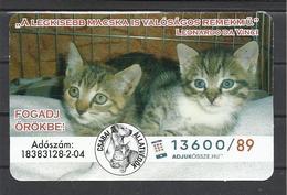 "Hungary, Animal Protection Association Ad, ""The Smallest Feline Is A Masterpiece"", Leonardo Da Vinci, 2019. - Tamaño Pequeño : 2001-..."