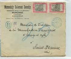 Lettre Recommandée  De MADAGASCAR  - Voyagée De Morombé à St Etienne En 1930 - Madagascar (1889-1960)