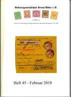 ArGe Krone / Adler Rundbrief 45 Aus 2010 - U. A. Entwicklung Des Auslandsbriefverkehrs Capeland Südafrika - Briefe U. Dokumente