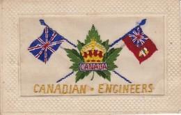 Carte Brodée Militaria - Patriotiques - Canadian-engineers (voir Scan Recto-verso) - Patriotiques