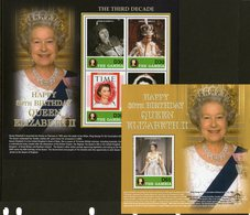 THE GAMBIA, 2006 QUEENS BIRTHDAY MINISHEETS 2 MNH - Gambia (1965-...)