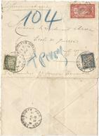 MERSON 40C SEUL PNEUMATIQUE PARIS 119 1917 + TAXE 20C+5C - 1900-27 Merson