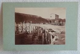 Ancienne Photo De La Construction Du Fort CHAPOLY Vers 1891 SAINT GENIS LES OULLIERES Ceinture Militaire LYON - Photographs