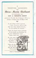 DP Roza M. Anckaert / Coeman - Deerlijk 1949 - Images Religieuses