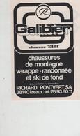 Publicité Galibier Chaussures De Montagne Varappe Pontvert Izeaux - Pubblicitari