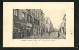 CPA Sceaux, La Rue Houdan Et Le Comptoir D'Escompte - Sceaux