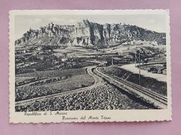 San Marino - Ferrovia E Monte Titano - Cartolina Viaggiata Nel 1957 + Spese Postali - Saint-Marin