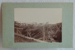 Ancienne Photo Du XIXème Construction Du Fort De CHAPOLY SAINT GENIS LES OULLIERES Ceinture Militaire Lyon (n°2) - Guerre, Militaire