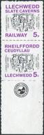 Alice In Wonderland Lewis Carroll GB UK 1982 Llechwedd Slate Caverns Underground Railway 5p Letter Stamps Great Britain - Fairy Tales, Popular Stories & Legends