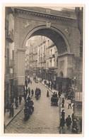 Napoli Via E Ponte Di Chiaia Animata  1928 - Napoli