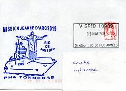 PHA TONNERRE Mission Jeanne D'Arc 2019 Escale à Rio De Janeiro Obl. V SPID 10909 02/05/19 - Naval Post