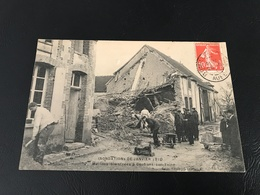 Inondations De Janvier 1910 - Maisons Sinistrées à CONFLANS SUR SEINE - 1910 Timbrée - France