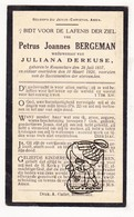 DP Petrus J. Bergeman ° Roeselare 1857 † 1926 X Juliana De Reuse - Images Religieuses