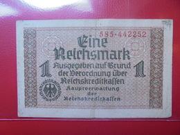 3eme Reich 1 MARK NON-DATE CIRCULER (B.4) - [ 4] 1933-1945 : Troisième Reich