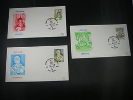 "BELG.1984  2151 2152 & 2153 FDC's  ( Welle )  "" Serie Kinderen / Enfants "" - FDC"