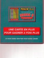 Tapis De Souris Publicitaire Poker Plus Française Des Jeux. - Autres