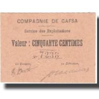 Billet, Tunisie, GAFSA, 50 Centimes, Valeur Faciale, 1916, 1916-02-10, NEUF - Tunisie