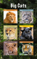 Liberia 2018  Fauna Lion,tiger ,cheeath ,leopard I201901 - Liberia