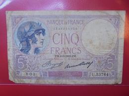 FRANCE 5 FRANCS 1933 CIRCULER (B.4) - 1871-1952 Antiguos Francos Circulantes En El XX Siglo
