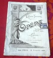 "Programme Opéra Grand Théâtre Lyon Saison 1927-1928 Opéra ""Manon"" Jules Massenet M Claudel  Mme Yakowleva - Programs"