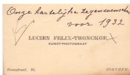 Visitekaartje - Carte Visite - Kunst Fotograaf - Lucien Felix - Tronckoe - Bornem - Visitenkarten