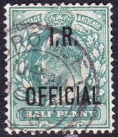 GREAT BRITAIN 1902 KEDVII 1/2d Blue-Green 'Inland Revenue' SGO20 FU - 1902-1951 (Re)