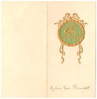 MENU  E.C  L.B.  - TOULON VAR  23 Mars  1911 - MONSIEUR LEON BRONDET - Menus