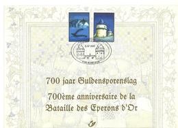 2002 - Belgio 3082/83 Battaglia Dello Sperone D'oro - Cartoncino Ricordo     15/13 - Storia