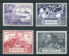 1949 - MALTA - U.P.U. - 4 VAL.-M.N.H.- LUXE !! - Malta