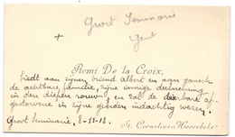 Visitekaartje - Carte Visite - Remi De La Croix - Groot Seminarie Gent - St Cornelius Horebeke - Cartes De Visite