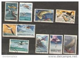 AAT - 1973 Antarctic Pictorials Used (10 Values) - Australisch Antarctisch Territorium (AAT)