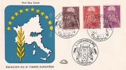 Luxembourg 1957, FDC Europe. Cv 75 Euro. - Europa-CEPT