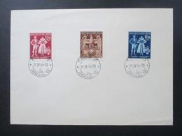 Böhmen Und Mähren 1944 Nr. 133 - 135 Blankoumschlag Stempel Prag 15 Praha 15 - Briefe U. Dokumente