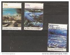 AAT - 1989 Antarctic Landscape Paintings 3 Values Used - Australian Antarctic Territory (AAT)