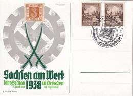 ALLEMAGNE 1938 CARTE DE DRESDEN - Briefe U. Dokumente