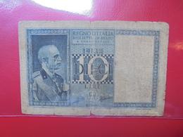 ITALIE 10 LIRE 1935-1944 CIRCULER (B.4) - [ 1] …-1946 : Kingdom