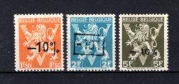 724K/724M MNH** 1946 - Heraldieke Leeuw België - Belgique - 1946 -10%