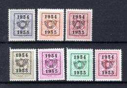 PRE645/651 MNH** 1954 - Cijfer Op Heraldieke Leeuw Type E - REEKS 47 - Tipo 1951-80 (Cifra Su Leone)