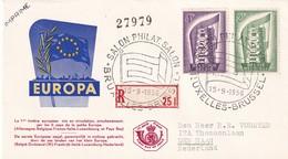 Belgium 1956, Registered FDC Europe. Cv 14 Euro. - Europa-CEPT