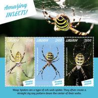 Liberia 2019  Fauna AMAZING INSECTS , WASP SPIDER  I201901 - Liberia