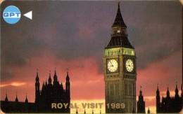 SINGAPORE - GPT, 3SGPC, Royal Visit 1989, Big Ben, 2 $, 18,288ex, 1989, Used - Singapore