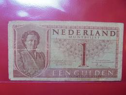 PAYS-BAS 1 GULDEN 1943 CIRCULER (B.4) - [2] 1815-… : Reino De Países Bajos