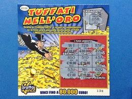 LOTTERIA ISTANTANEA GRATTA E VINCI USATO € 2,00 TUFFATI NELL'ORO - Biglietti Della Lotteria