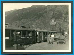 Suisse Valais * Gare De Martigny Vers 1935, Train Salvan Châtelard Vallorcine * Photo Originale 12 X 17cm - Places