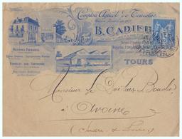 1899 - Lettre à Entête - Tours (Indre-et-Loire) - Comptoir Agricole De Touraine - FRANCO DE PORT - Agriculture