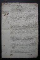 1765 Crespy (Crépy En Valois) Partage De La Ferme Des Charmolue Acquise Par Poulletier, Grand Document Avec Détail - Manuscripts