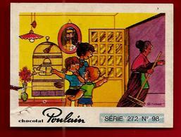 Chromo Image Chocolat Poulain Série 272 N° 98 Ouvrez La Cage Aux Oiseaux Pierre Perret - Poulain