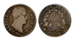 NAPOLÉON Ier 1 FRANC N°2 1806 A (Paris) - France
